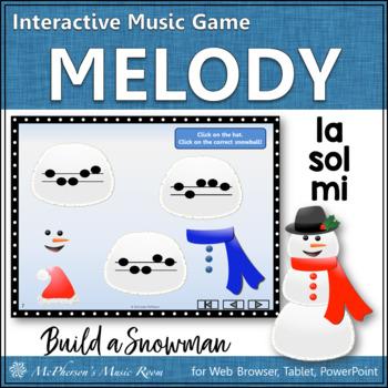 Build a Snowman - Interactive Melody Game (Sol Mi La)