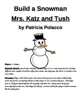 Build a Snowman Mrs. Katz and Tush by Patricia Polacco