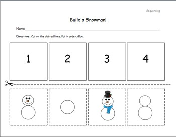 build a snowman sequencing by adrienne n teachers pay teachers. Black Bedroom Furniture Sets. Home Design Ideas