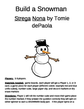 Build a Snowman Strega Nona Game