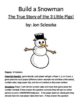 Build a Snowman The True Story of the 3 Little Pigs! by Jo
