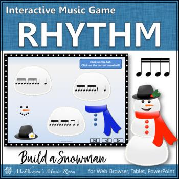 Build a Snowman - Interactive Rhythm Game (Sixteenth Notes)