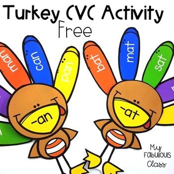 Build a Turkey - CVC {Freebie}