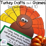 Turkey Sums of 5 and 10 Craft and Games