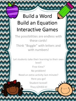Build a Word &Build a Number Sentence/Equation Student Int