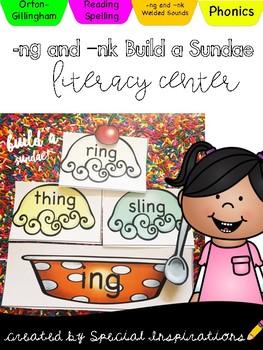 Build a Word Family Sundae! (nk & ng word family activity)