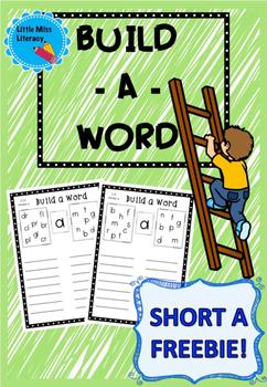 Build a Word Short A Freebie