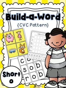 Short o CVC Build a Word