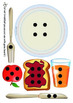 Maths Centre Game: Build a breakfast- subitising game 1-6