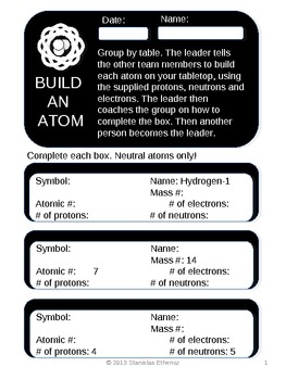 Build an Atom - Learn how isotopes work