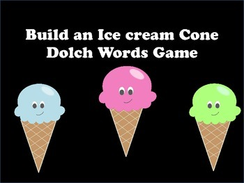 Build an Ice Cream Cone Sight Word