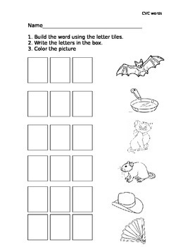 Build and Write CVC words with short a