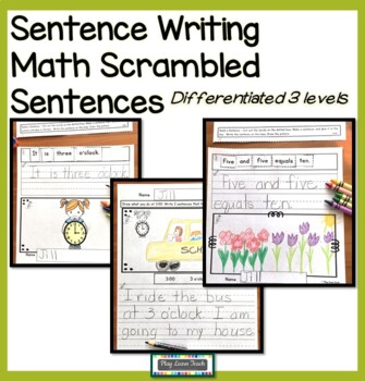 Build and Write Sentences - math