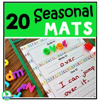 Build it!  Write it!  Use it!  Seasonal Center Word Work Cards