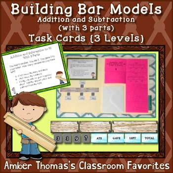 Building Bar Models Addition and Subtraction with 3 Parts