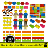 NEW Building Blocks clipart Mega set 149 files multicolor+