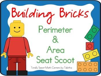 Building Bricks- Area and Perimeter Seat Scoot