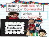 Building Classroom Community and Bar Graphs! Math Packet-No Prep