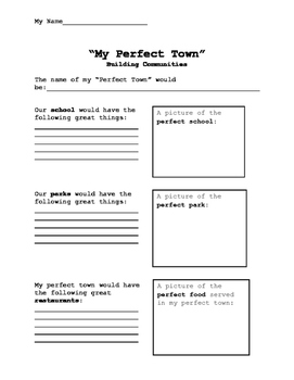 "Building Communities - ""My Perfect Town"""