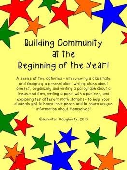 Building Community at the Beginning of the Year!