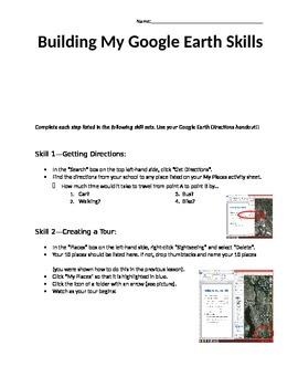 Building Google Earth Skills