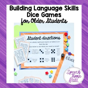 Building Language Skills Dice Game For Older Students