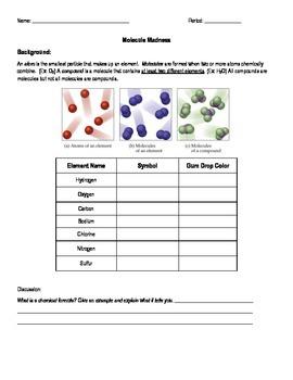 Building Molecules & Compounds Lab