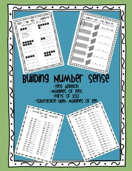 Building Number Sense - Tens Addition, Adding and Subtract