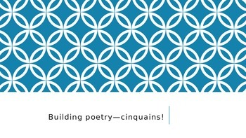 Building Poetry--Fun with Cinquains/Power Point