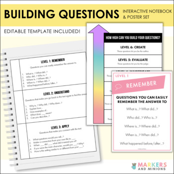 Building Questions Interactive Notebook and Posters! (Comm