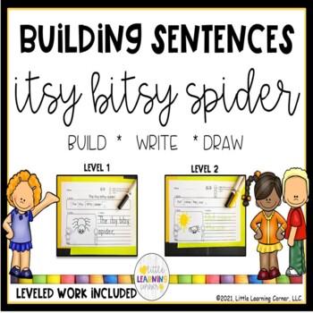 Building Sentences ~ Itsy Bitsy Spider
