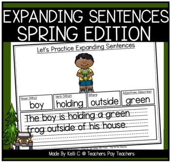 Expanding Sentences-Spring Edition (Using Adjectives, Noun