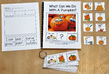 """Building Sentences--""""What Can We Do With A Pumpkin?"""""""