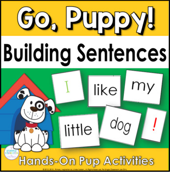 Building Sentences at the Pocket Chart ~ Go, Puppy!