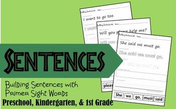 Building Sentences with Primer Sight Words (Preschool, Kin
