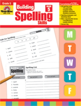 Building Spelling Skills, Daily Practice, Grade 5, Revised