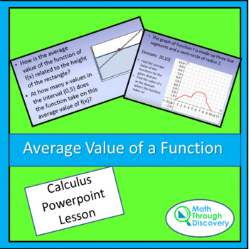 Average Value of a Function - Powerpoint
