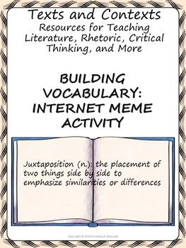 Building Vocabulary: Internet Meme Activity