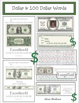 Building Vocabulary & Math Skills With Dollar & One Hundre