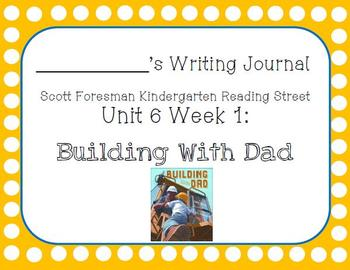 Building With Dad Writing Journal with Word Dictation (Kdg