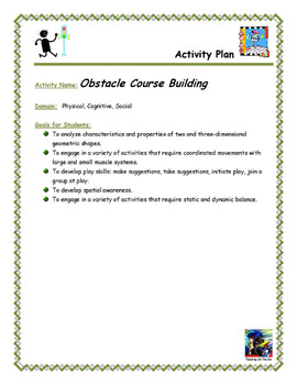 Building an Obstacle Course Activity Plan