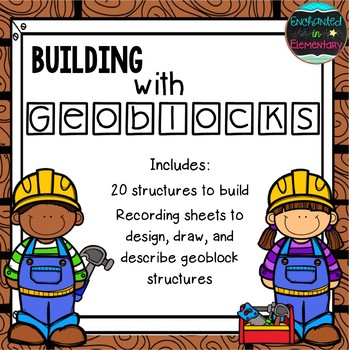 Building with Geoblocks: 3D Shapes Math Center