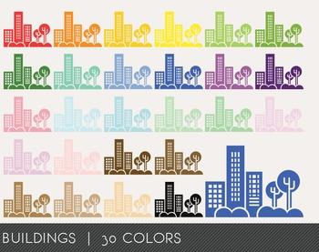 Buildings Digital Clipart, Buildings Graphics, Buildings P