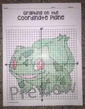 Bulbasaur (Graphing on the Coordinate Plane/ Mystery Image)