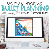 Teacher Binder Editable Bullet Lesson Plan Lists BRIGHTS