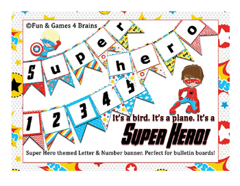 Bulletin Board Banner letters -Superhero Theme