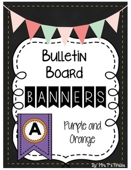 Bulletin Board Banners - Purple and Orange