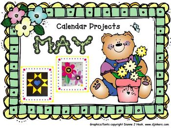Bulletin Board Calendar: Creative Monthly Student Art Display-May