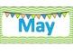 Bulletin Board Calendar Lime, gray, blue