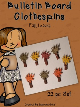 Bulletin Board Clothespins: Fall Leaves Clipables